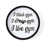 I live gym Wall Clock