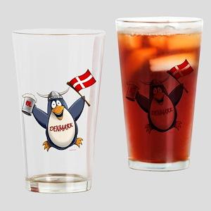 Denmark Penguin Drinking Glass