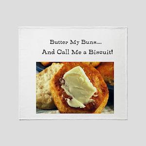 Butter My Buns & Call Me a Bi Throw Blanket