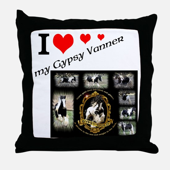 Funny Gypsy Throw Pillow