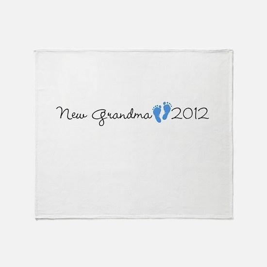New Grandma 2012 Throw Blanket