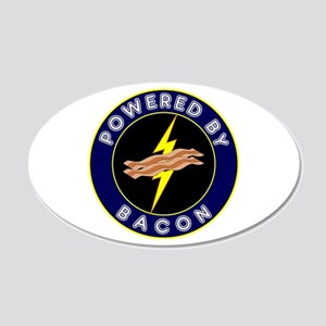 Powered By Bacon 22x14 Oval Wall Peel