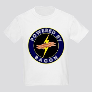 Powered By Bacon Kids Light T-Shirt