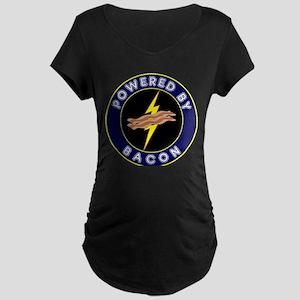 Powered By Bacon Maternity Dark T-Shirt
