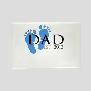 Dad Est 2012 Rectangle Magnet