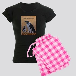 Border Collie Wisdom Women's Dark Pajamas