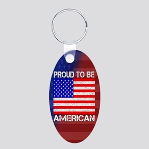 American Pride Aluminum Oval Keychain