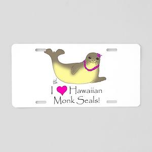 Monk Seal Aluminum License Plate