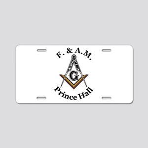 Prince Hall Square and Compass Aluminum License Pl