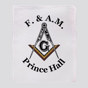Prince Hall Square and Compass Throw Blanket