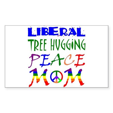 LIBERAL PEACE MOM (RB) Rectangle Sticker