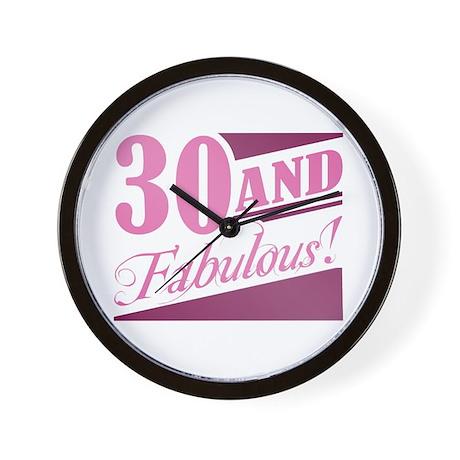 30 & Fabulous Wall Clock
