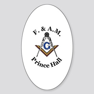 Prince Hall Square and Compass Sticker (Oval)