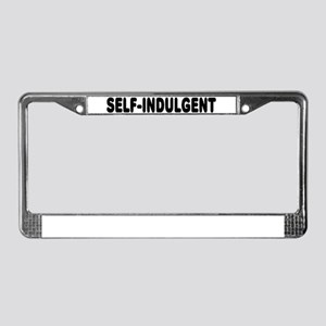 Self-Indulgent License Plate Frame