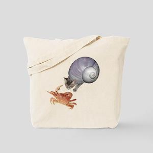 Shell Cat Crab Tote Bag