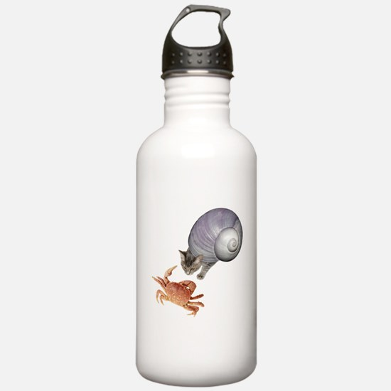 Shell Cat Crab Water Bottle