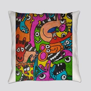 doodles Everyday Pillow