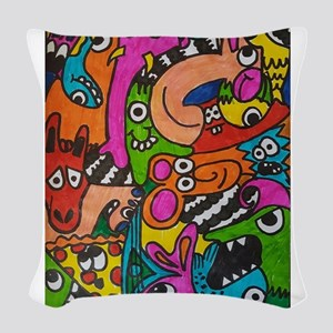 doodles Woven Throw Pillow