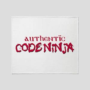Authentic Code Ninja Throw Blanket