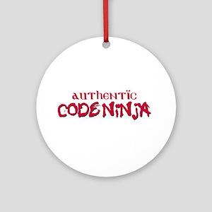 Authentic Code Ninja Ornament (Round)