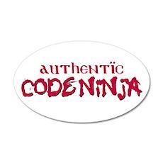 Authentic Code Ninja 22x14 Oval Wall Peel