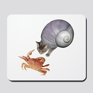 Shell Cat Crab Mousepad