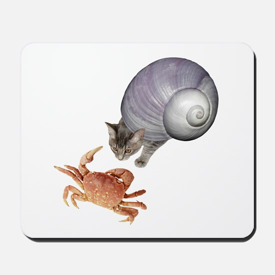 Shell Cat Crab Mousepad