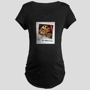 Tort Time Logo Maternity Dark T-Shirt