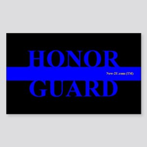 Police Honor Guard Blue Rs Sticker