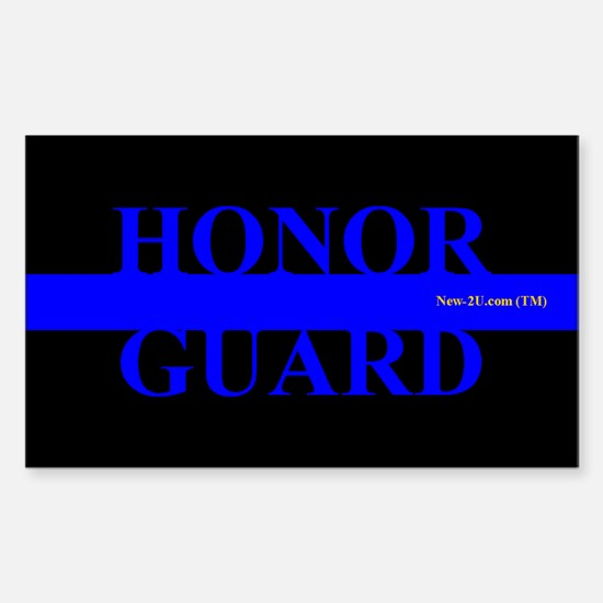 Police Honor Guard Blue Rs Decal