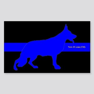 Police K9 Dog Blue Rs Sticker