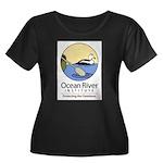 Ocean River Women's Plus Size Scoop Neck Dark T-Sh