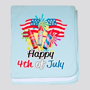 4th of July Fireworks baby blanket