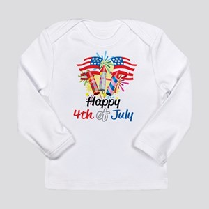 4th of July Fireworks Long Sleeve Infant T-Shirt