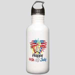 4th of July Fireworks Stainless Water Bottle 1.0L