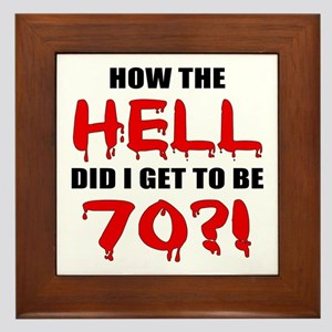 70th Birthday Gag Gift Framed Tile