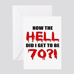 70th Birthday Gag Gift Greeting Card