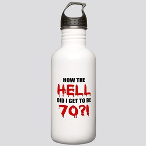 70th Birthday Gag Gift Stainless Water Bottle 1.0L