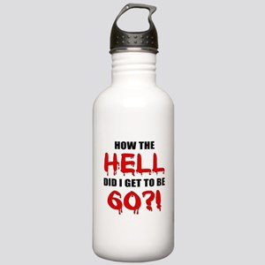 60th Birthday Gag Gift Stainless Water Bottle 1.0L