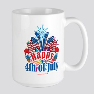 Happy 4th of July Large Mug