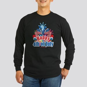 Happy 4th of July Long Sleeve Dark T-Shirt