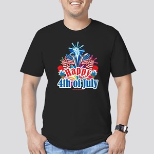 Happy 4th of July Men's Fitted T-Shirt (dark)