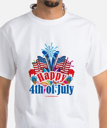 Happy 4th of July White T-Shirt