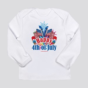 Happy 4th of July Long Sleeve Infant T-Shirt