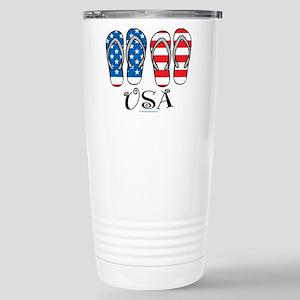 USA Flip Flops Stainless Steel Travel Mug
