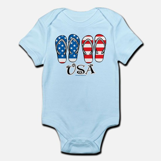 USA Flip Flops Infant Bodysuit