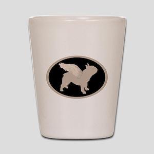 french bulldog wings Shot Glass