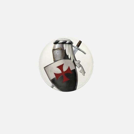 Templar shield with white top Mini Button