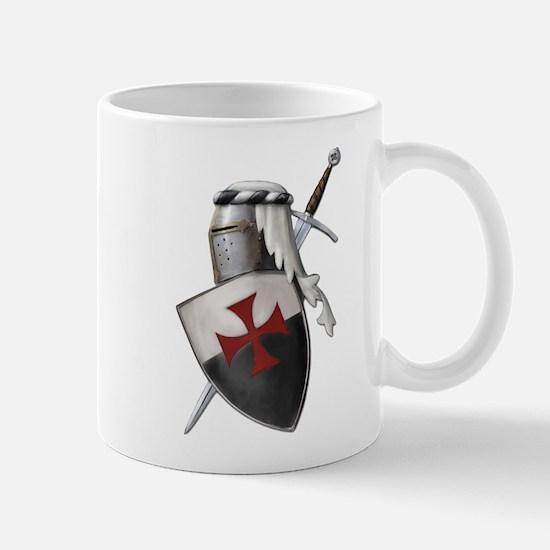 Templar shield with white top Mug