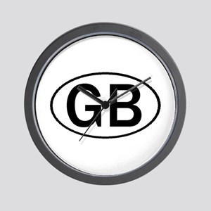 GREAT BRITAIN OVAL STICKERS & Wall Clock